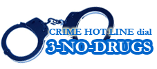 Crime Hotline Logo with handcuffs